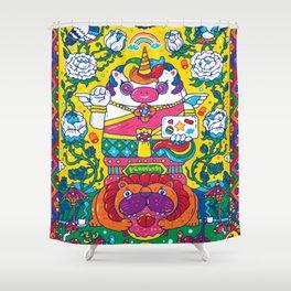 Unicorn Kwak Shower Curtain