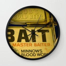Bob's Cold Beer Master Baiter Wall Clock