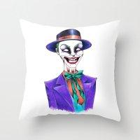 joker Throw Pillows featuring JOKER by ReadThisVA