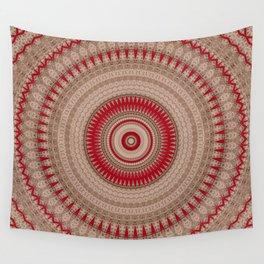 Textured Red Madala Wall Tapestry