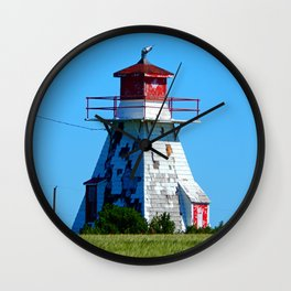 Lighthouse in Disrepair Wall Clock