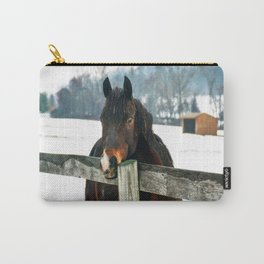 Thoughtful Horse Carry-All Pouch