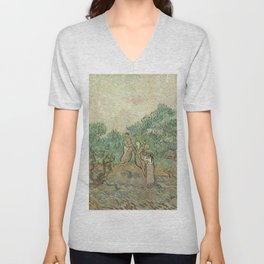 The Olive Orchard by Vincent van Gogh - Classic Art Unisex V-Neck
