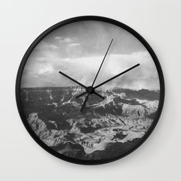 GRAND CANYON II (B+W) Wall Clock