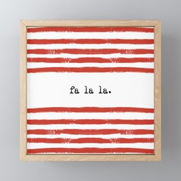 red stripes- fa la la Framed Mini Art Print