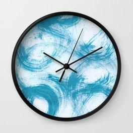 Kleinspir, Abstract, Blue Duck Wall Clock