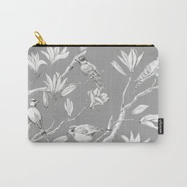 Magnolia flower and birds ink-pen drawing Carry-All Pouch