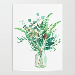 greenery in the jar Poster