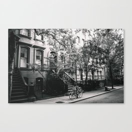 New York City - West Village Street and Bicycles Canvas Print
