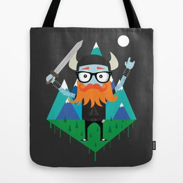 Black Metal Viking Hipster Tote Bag