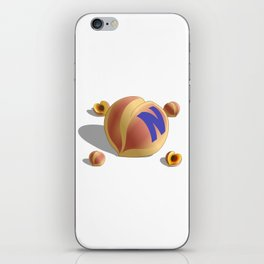 N Peach iPhone Skin