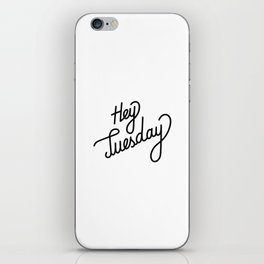 Hey Tuesday   [black] iPhone Skin