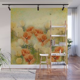 Vintage Poppies Wall Mural