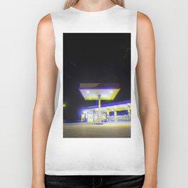 night gas station Biker Tank