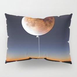 Red Balloon Moon Pillow Sham