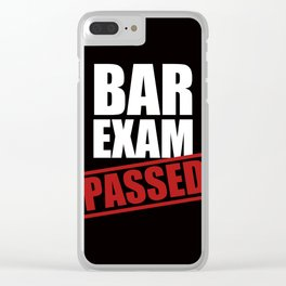 Bar Exam Passed Clear iPhone Case