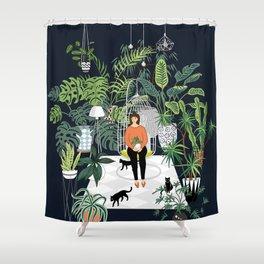 dark room print Shower Curtain