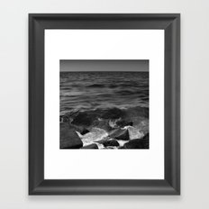 BEACH DAYS XX BW Framed Art Print