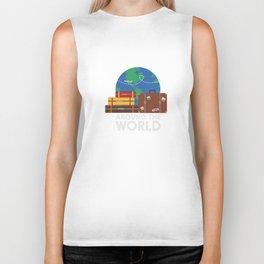 Around the world Biker Tank