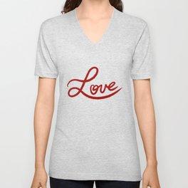 Love Handwriting Unisex V-Neck
