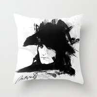 napoleon Throw Pillows featuring Napoleon Bonaparte by viva la revolucion