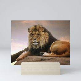 Gorgeous Wonderful Big Male African Lion Chilling Close Up Ultra HD Mini Art Print