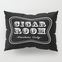 Cigar Room Smokers Only Pillow Sham