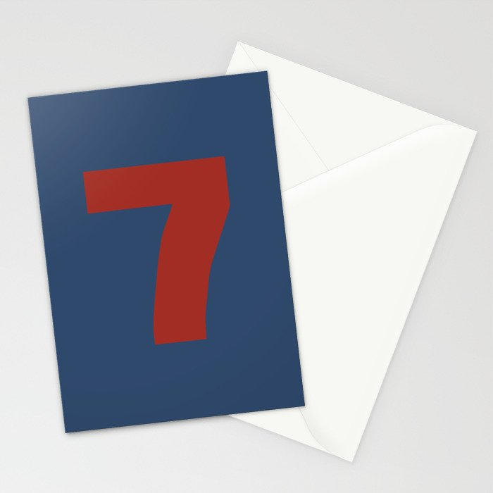 Number 7 Stationery Cards