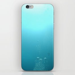 Swimming up to the surface iPhone Skin