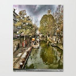 Utrecht Canal Canvas Print