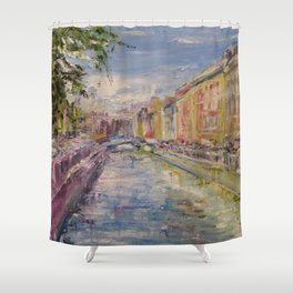Painting Oil Realism Canvas Art Impressionism Landscape Painting Modern Office Decor Art Collection Shower Curtain