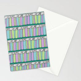Doodle Books - Pattern in Green, Purple and Blue Stationery Cards