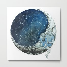 Lovers Constellations Metal Print