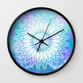 Daisy Blue Mandala Wall Clock