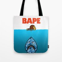 ape Tote Bags featuring APE by Mike Nieuwstraten
