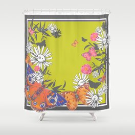 Flutterbies Shower Curtain