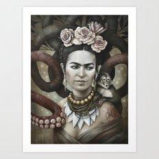 Hommage à Frida Kahlo 3 Art Print