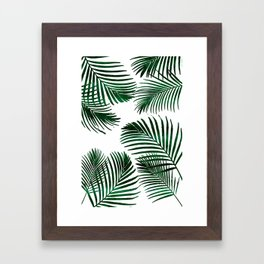 Tropical Palm Leaf Framed Art Print
