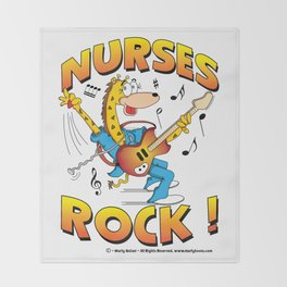 Nurses Rock Merchandise Throw Blanket