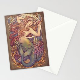 Andersen Little Mermaid Nouveau Stationery Cards