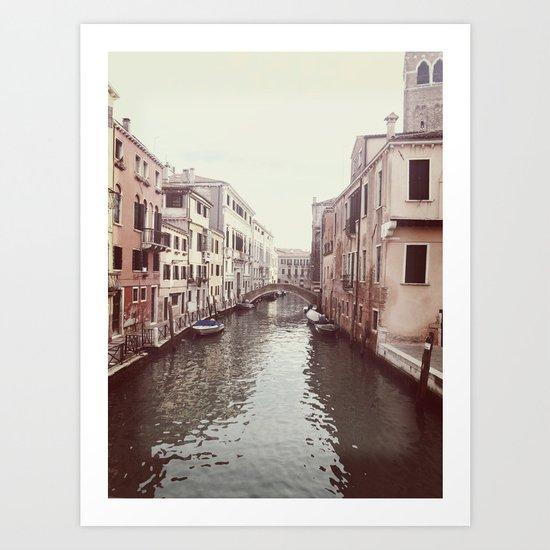Venezia Canal Art Print