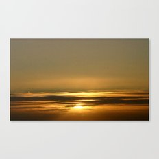 Layers of golden Sunsets Canvas Print