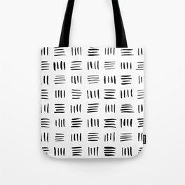 Lines on Lines // black Tote Bag