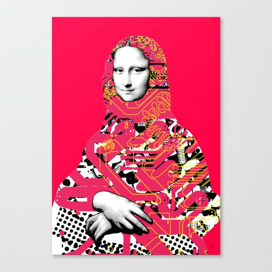 Mona Lisa Platina 5 Canvas Print