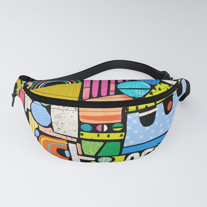 Color Block Collage Fanny Pack
