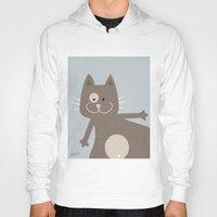 my mad fat diary Hoodies featuring Fat Cat by nellifant