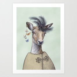 Oh deer, that´s posh! Art Print