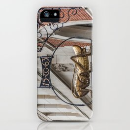 TG Grasshopper Sign London Street Thomas Gresham England iPhone Case