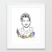 louis tomlinson Framed Art Prints featuring Louis Tomlinson by Mariam Tronchoni