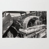 cars Area & Throw Rugs featuring Dead cars by Bruce Stanfield Photographer